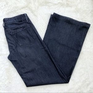 Goldsign Dietrich dark wash wide leg jeans 26